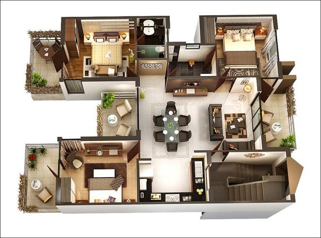 8 thiết kế căn hộ 3 phòng ngủ cực thông minh để đáp ứng nhu cầu sinh hoạt của gia đình nhiều thế hệ - Ảnh 7.