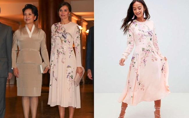 Hoàng hậu Tây Ban Nha mặc váy của ASOS đón tiếp vợ chồng Chủ tịch Trung Quốc mà trông vẫn đẹp và sang vô cùng - Ảnh 5.