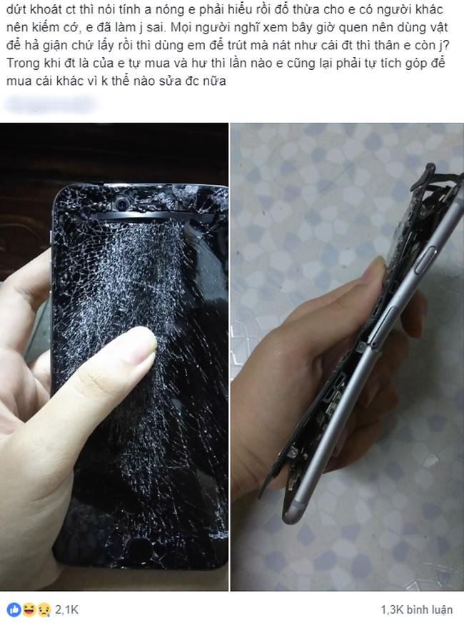 Bạn trai đập nát 2 chiếc điện thoại của người yêu chỉ vì cãi vã, dân mạng kịch liệt khuyên điều này - Ảnh 1.