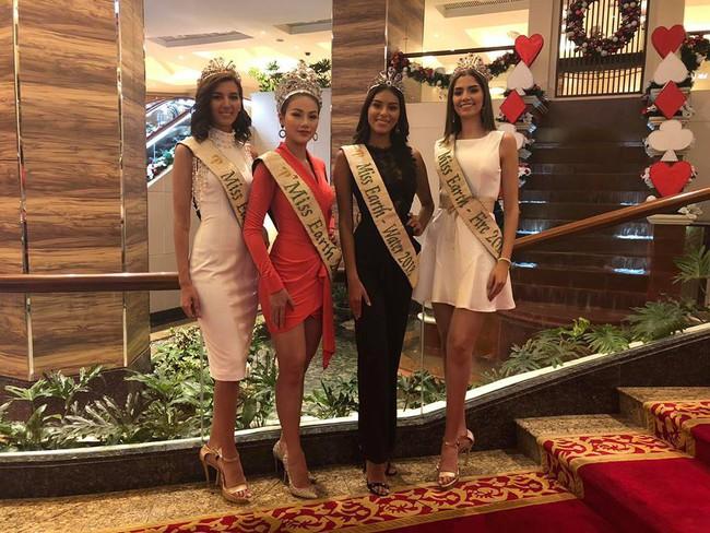 Lép vé về chiều cao, Nguyễn Phương Khánh vẫn nổi bần bật bên ba Á hậu Miss Earth 2018 - Ảnh 1.