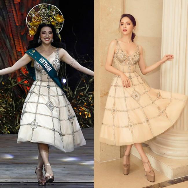 Ít ai ngờ rằng Phương Khánh đăng quang Miss Earth 2018 với vali toàn váy áo cũ của các Bông Hậu trước đó - Ảnh 5.