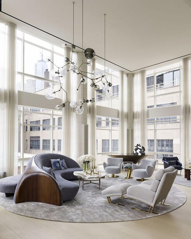 Ghế sofa cong - xu hướng nội thất đang làm mưa làm gió với sức hút không hề nhỏ - Ảnh 1.