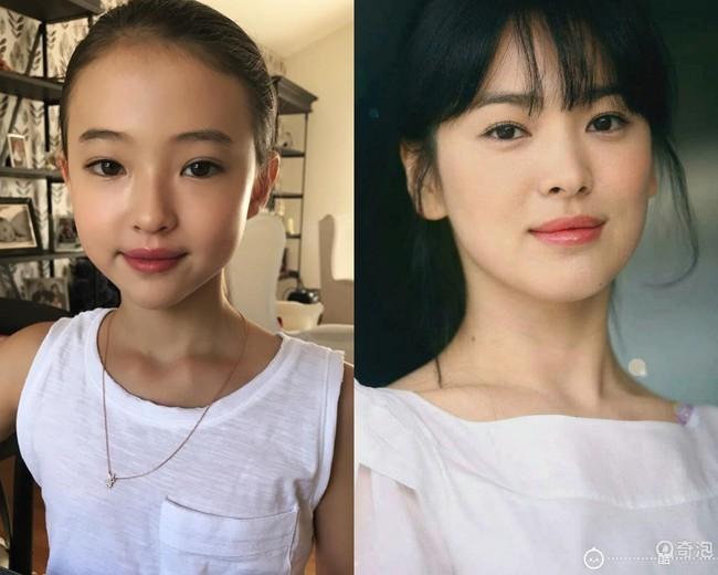 """Bản sao 10 tuổi của Song Hye Kyo: Mặt xinh, thần thái hơn người còn style thì """"chất hơn nước cất"""" - Ảnh 2."""