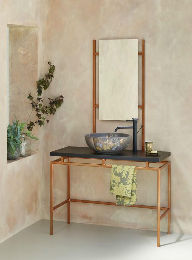 Thổi hồn nghệ thuật đương đại vào phòng tắm với thiết kế bồn rửa tay sứ chạm khắc hoa văn đẹp tuyệt - Ảnh 5.