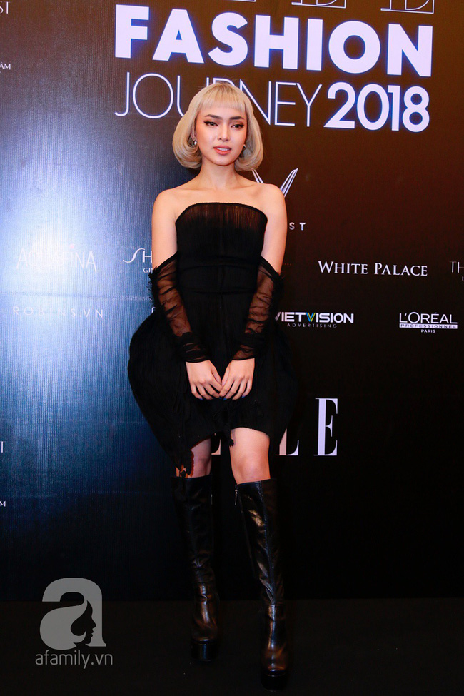 Phạm Quỳnh Anh diện váy đen đầy quyến rũ, Mỹ Tâm nam tính góc cạnh với tóc nâu môi trầm trên thảm đỏ Elle - Ảnh 12.