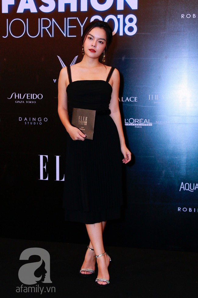 Phạm Quỳnh Anh diện váy đen đầy quyến rũ, Mỹ Tâm nam tính góc cạnh với tóc nâu môi trầm trên thảm đỏ Elle - Ảnh 2.