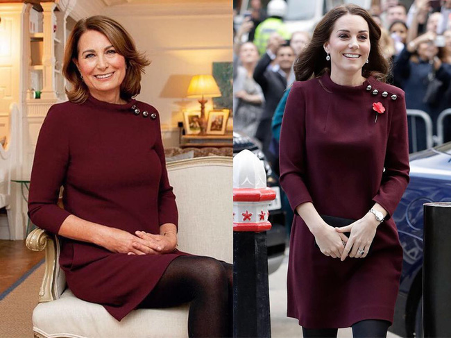 """""""Con nào mẹ nấy"""": đến mẹ đẻ của Công nương Kate Middleton cũng mê mẩn style và diện y như con gái - Ảnh 4."""