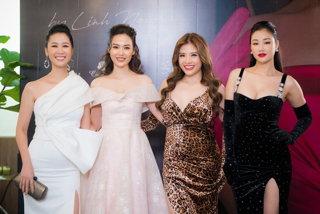 Maya diện váy lộ ngực khủng, khoe chiều cao vượt trội giữa dàn mỹ nhân toàn Hoa hậu - Ảnh 1.