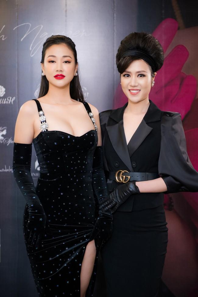 Maya diện váy lộ ngực khủng, khoe chiều cao vượt trội giữa dàn mỹ nhân toàn Hoa hậu - Ảnh 2.