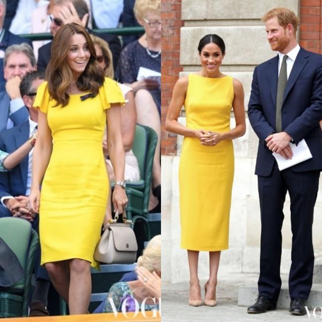 Rõ ràng vướng tin đồn bất hòa, vậy mà Công nương Meghan và chị dâu Kate vẫn đầy những pha mặc đồ y chang nhau - Ảnh 1.