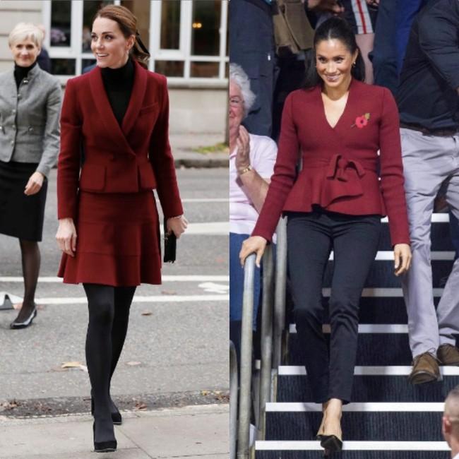 Rõ ràng vướng tin đồn bất hòa, vậy mà Công nương Meghan và chị dâu Kate vẫn đầy những pha mặc đồ y chang nhau - Ảnh 5.