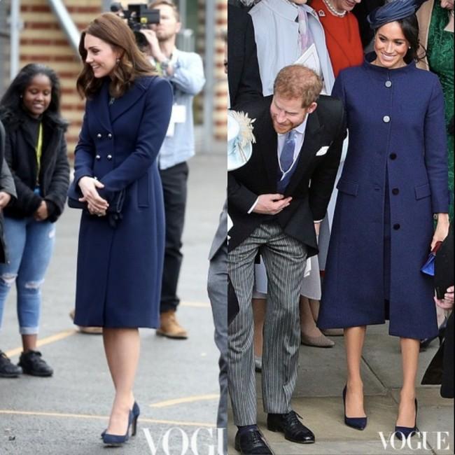 Rõ ràng vướng tin đồn bất hòa, vậy mà Công nương Meghan và chị dâu Kate vẫn đầy những pha mặc đồ y chang nhau - Ảnh 6.