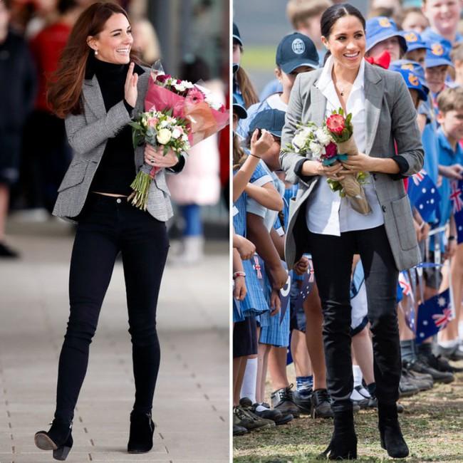 Rõ ràng vướng tin đồn bất hòa, vậy mà Công nương Meghan và chị dâu Kate vẫn đầy những pha mặc đồ y chang nhau - Ảnh 9.