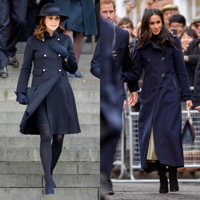 Rõ ràng vướng tin đồn bất hòa, vậy mà Công nương Meghan và chị dâu Kate vẫn đầy những pha mặc đồ y chang nhau - Ảnh 7.