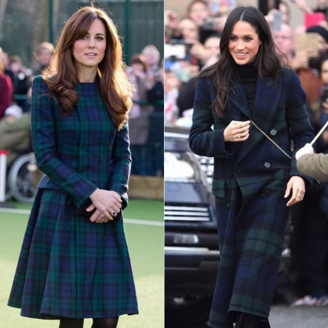 Rõ ràng vướng tin đồn bất hòa, vậy mà Công nương Meghan và chị dâu Kate vẫn đầy những pha mặc đồ y chang nhau - Ảnh 4.