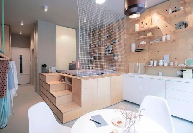 Danh sách 13 căn hộ siêu nhỏ gây thương nhớ nhờ thiết kế ăn gian diện tích tài tình - Ảnh 13.