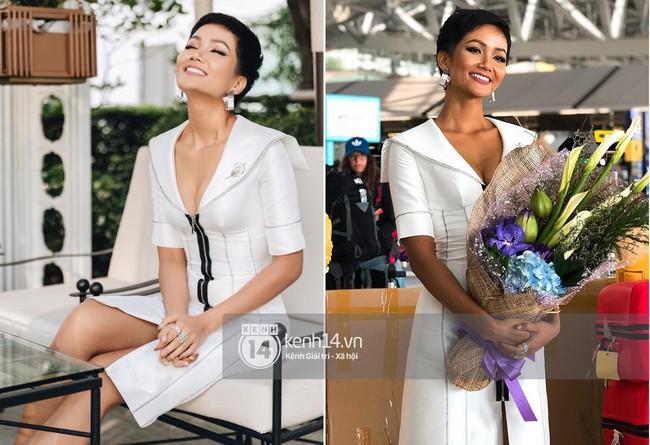 """Giản dị như H'Hen Niê: Liên tục diện lại """"đồ cũ"""" sau Miss Universe mà vẫn tỏa sáng ngời ngời - Ảnh 3."""