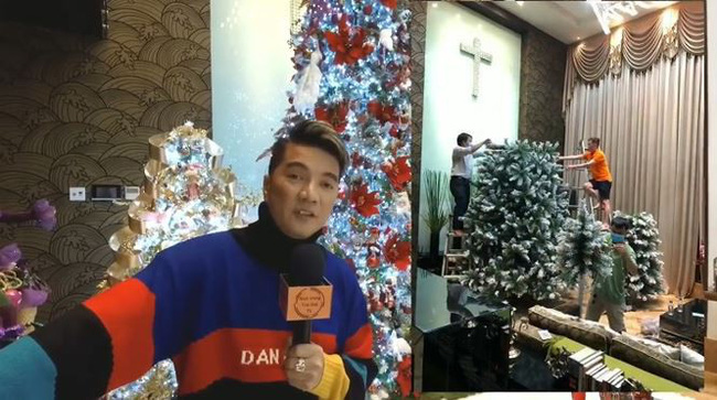 Biệt thự 60 tỷ của Đàm Vĩnh Hưng lung linh trong ngày Giáng sinh - Ảnh 2.
