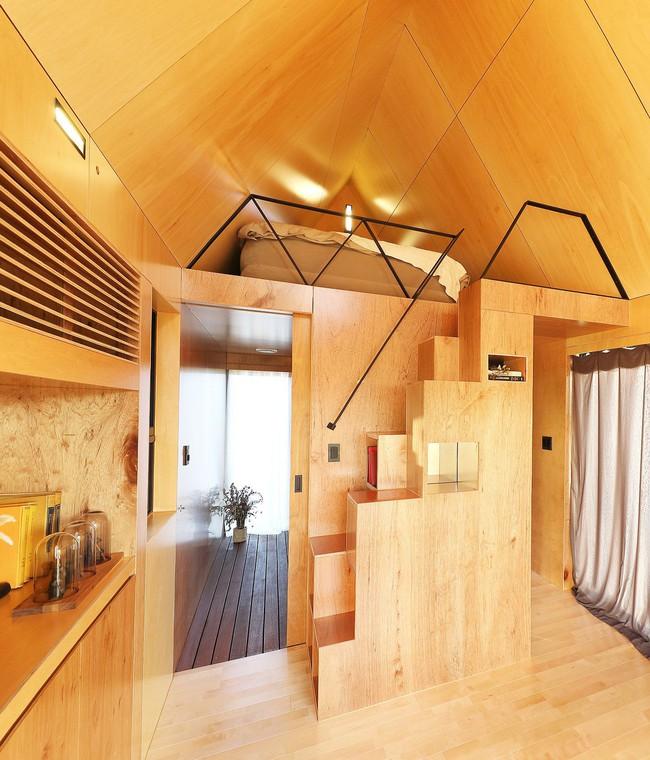Thiết kế nhà nhỏ 20m² ấn tượng với phòng ngủ trên gác xép vừa đáng yêu vừa siêu tiết kiệm - Ảnh 5.