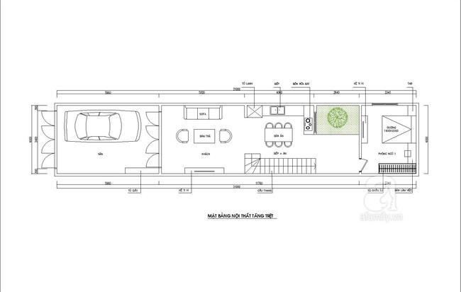 Tư vấn thiết kế nhà ống hẹp và dài nhưng vẫn tràn ngập ánh sáng lại rất tiết kiệm chi phí - Ảnh 1.