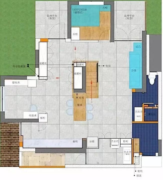 Nhà trong phố tạo cảm giác rộng gấp đôi với cách kết hợp màu táo bạo của vợ chồng trẻ từng du học Hà Lan - Ảnh 4.