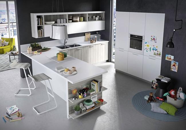 Vừa đẹp vừa thông minh, nhà bếp kiểu này sẽ thu hút các bà nội trợ ngay từ cái nhìn đầu tiên - Ảnh 1.