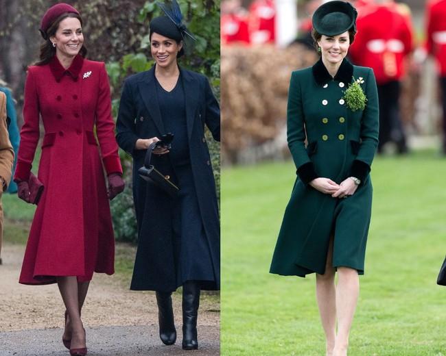 Đừng vội nghĩ Công nương Kate tiết kiệm khi diện lại 1 thiết kế, kỳ thực cô ấy mua hẳn phiên bản khác màu đấy! - Ảnh 2.
