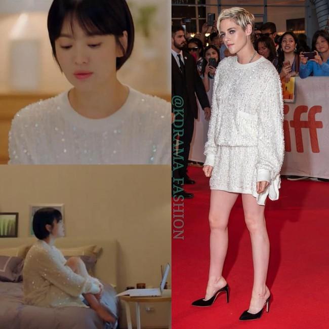 Thấp hơn hẳn một cái đầu Song Hye Kyo vẫn diện đẹp bất chấp mẫu đầm Chanel khi đụng hàng với mỹ nhân Hollywood - Ảnh 4.