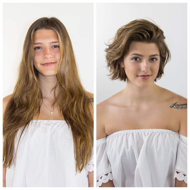 15 hình ảnh lột xác hoàn toàn của chị em chứng minh sức mạnh vi diệu của việc cắt tóc ngắn - Ảnh 6.