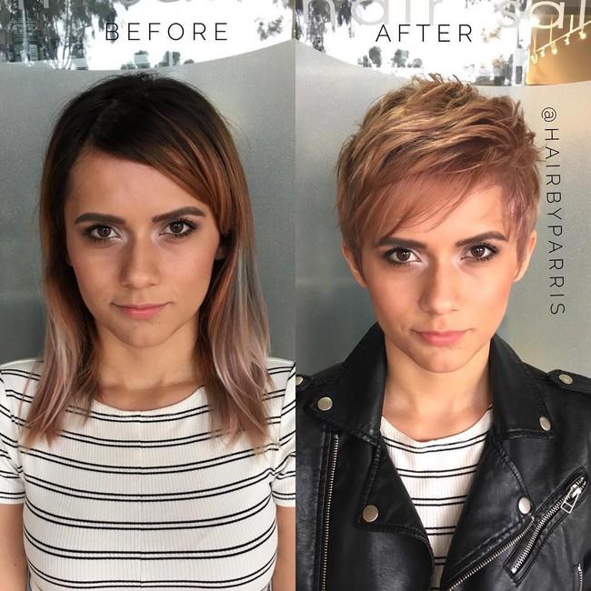 15 hình ảnh lột xác hoàn toàn của chị em chứng minh sức mạnh vi diệu của việc cắt tóc ngắn - Ảnh 7.