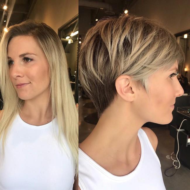15 hình ảnh lột xác hoàn toàn của chị em chứng minh sức mạnh vi diệu của việc cắt tóc ngắn - Ảnh 11.