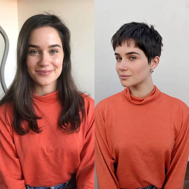 15 hình ảnh lột xác hoàn toàn của chị em chứng minh sức mạnh vi diệu của việc cắt tóc ngắn - Ảnh 14.