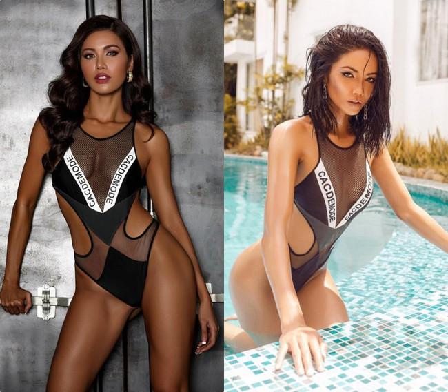Pha đụng hàng bỏng mắt nhất Vbiz: Minh Tú và HHen Niê đọ body cực phẩm với cùng một thiết kế bikini táo bạo - Ảnh 4.