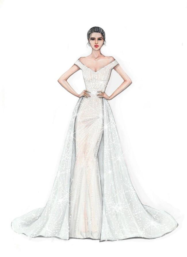 Lộ diện chiếc đầm mà Hoa hậu Tiểu Vy sẽ mặc trong đêm Chung kết Miss World 2018 - Ảnh 1.