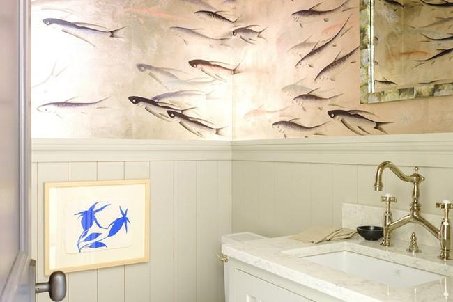 Đâu chỉ phòng khách, phòng ngủ mà phòng tắm cũng cần có một bức tranh treo tường - Ảnh 6.