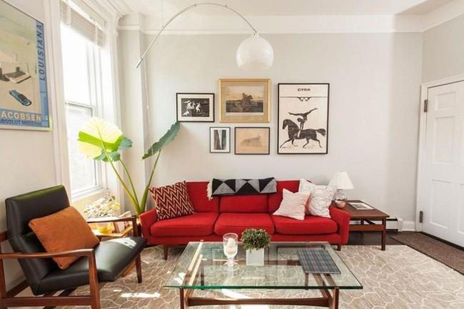 Đừng bỏ lỡ chiếc ghế sofa đỏ cho phòng khách khi mùa lễ hội đã cận kề - Ảnh 10.