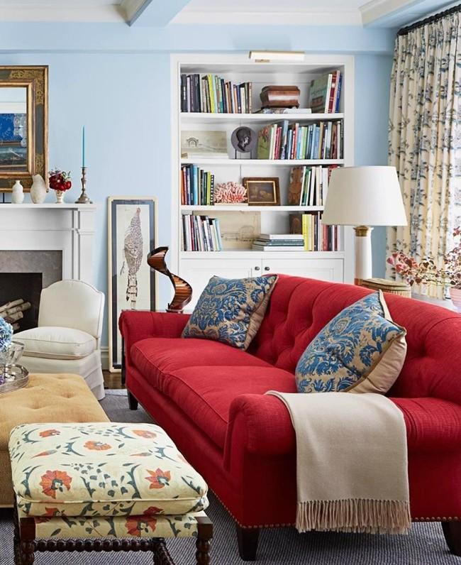 Đừng bỏ lỡ chiếc ghế sofa đỏ cho phòng khách khi mùa lễ hội đã cận kề - Ảnh 5.
