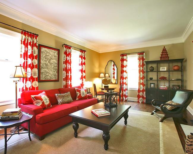 Đừng bỏ lỡ chiếc ghế sofa đỏ cho phòng khách khi mùa lễ hội đã cận kề - Ảnh 13.