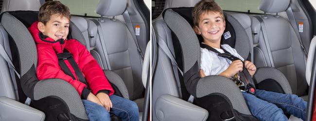 Mặc áo khoác cho trẻ khi đi ô tô có thể gây ra rủi ro đáng sợ như thế này - Ảnh 1.
