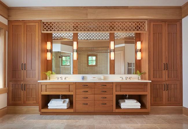 Điểm danh những căn phòng tắm thiết kế bồn rửa tay đôi khiến bạn khó có thể chối từ - Ảnh 1.