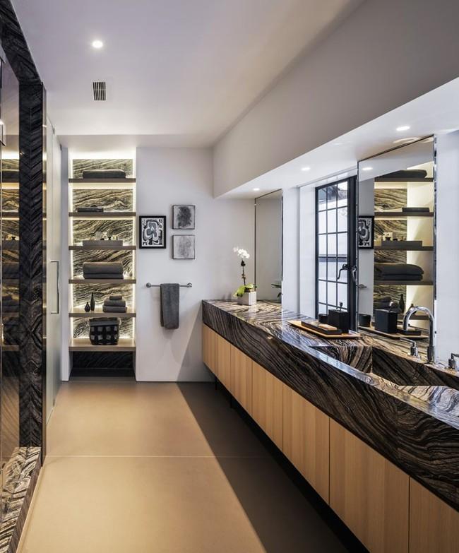 Điểm danh những căn phòng tắm thiết kế bồn rửa tay đôi khiến bạn khó có thể chối từ - Ảnh 11.