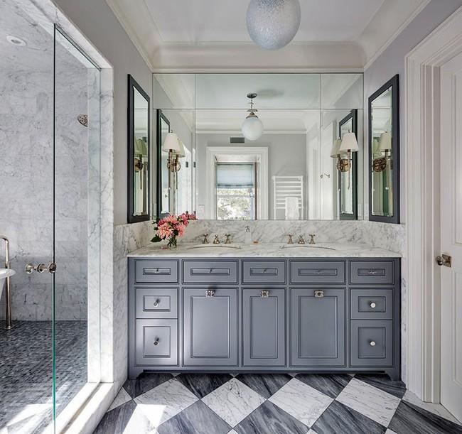 Điểm danh những căn phòng tắm thiết kế bồn rửa tay đôi khiến bạn khó có thể chối từ - Ảnh 12.