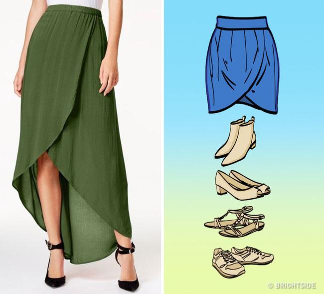 8 kiểu chân váy chị em ưa chuộng sẽ trở nên hoàn hảo với những mẹo kết hợp giày dép đơn giản dưới đây - Ảnh 2.