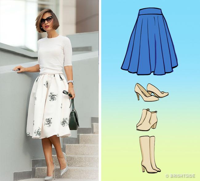 8 kiểu chân váy chị em ưa chuộng sẽ trở nên hoàn hảo với những mẹo kết hợp giày dép đơn giản dưới đây - Ảnh 3.