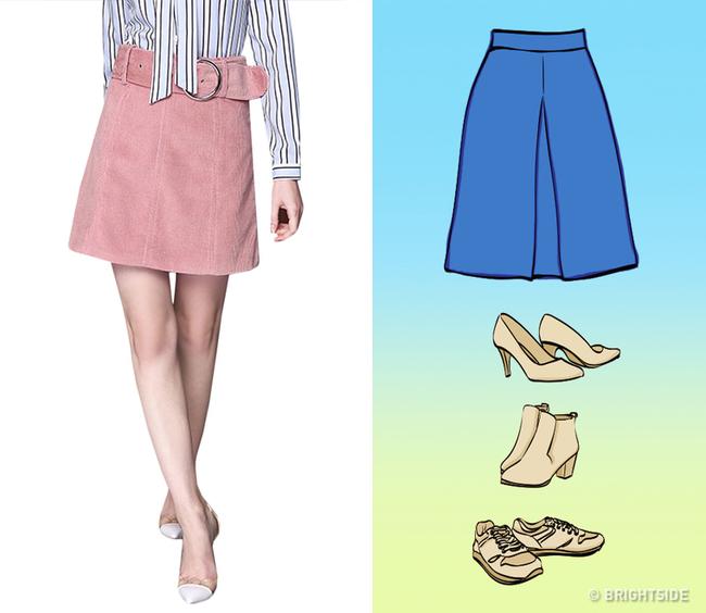 8 kiểu chân váy chị em ưa chuộng sẽ trở nên hoàn hảo với những mẹo kết hợp giày dép đơn giản dưới đây - Ảnh 5.