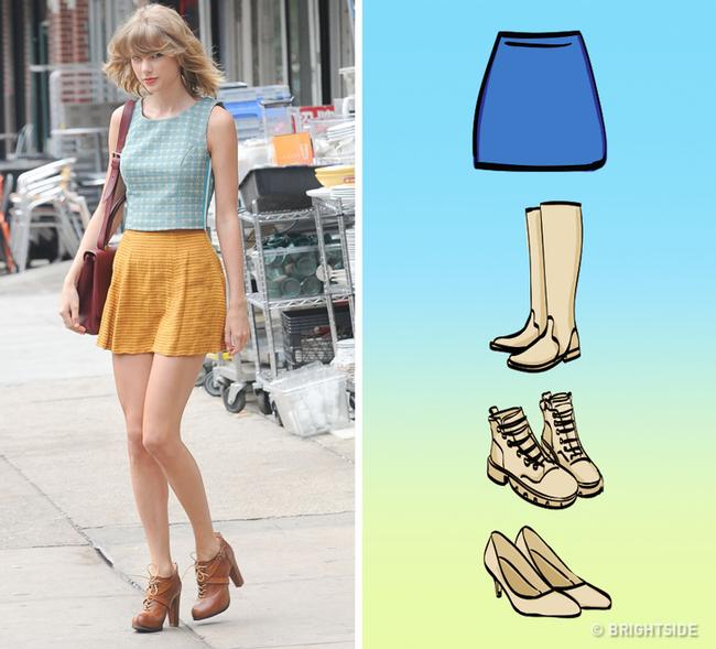8 kiểu chân váy chị em ưa chuộng sẽ trở nên hoàn hảo với những mẹo kết hợp giày dép đơn giản dưới đây - Ảnh 6.
