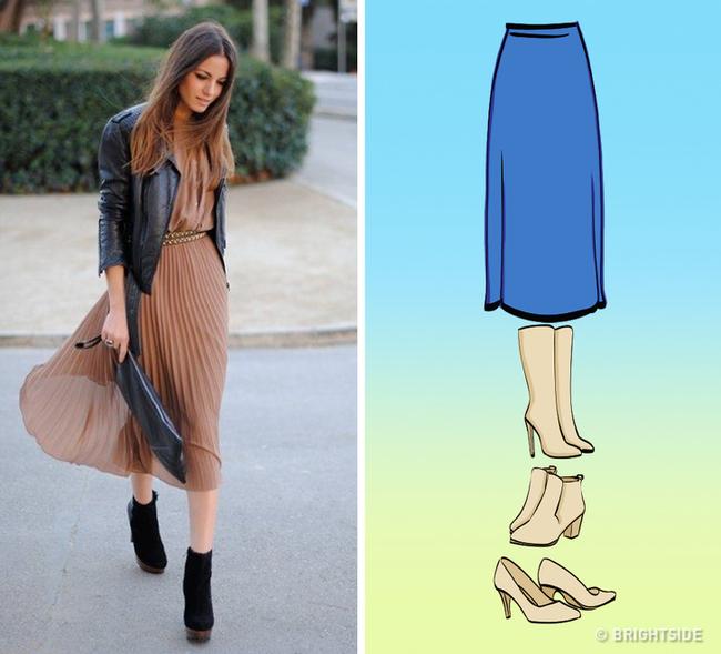 8 kiểu chân váy chị em ưa chuộng sẽ trở nên hoàn hảo với những mẹo kết hợp giày dép đơn giản dưới đây - Ảnh 8.