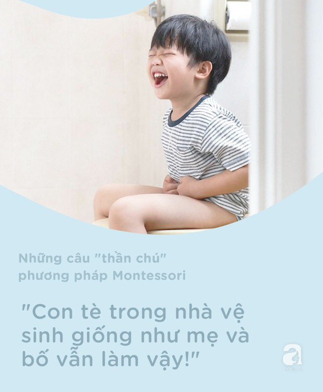 8 câu thần chú từ phương pháp Montessori giúp dạy bé đi vệ sinh dễ dàng - Ảnh 7.
