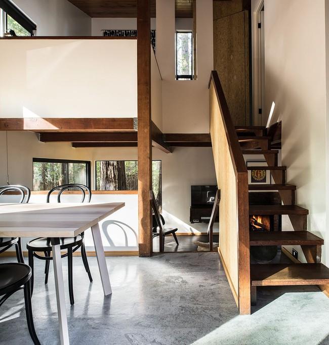 Ngôi nhà gỗ nằm giữa rừng Redwood gây thương nhớ vì vẻ đẹp hiện đại của mình - Ảnh 3.