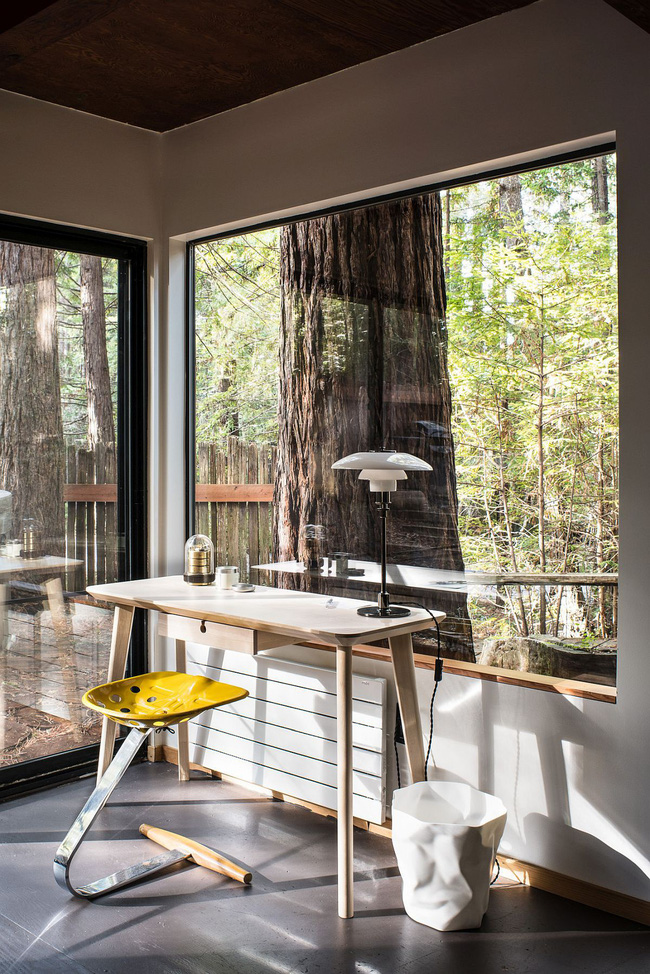 Ngôi nhà gỗ nằm giữa rừng Redwood gây thương nhớ vì vẻ đẹp hiện đại của mình - Ảnh 9.
